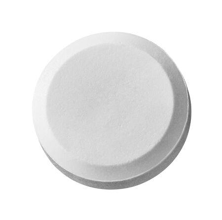 close up of a white pill on white background Zdjęcie Seryjne