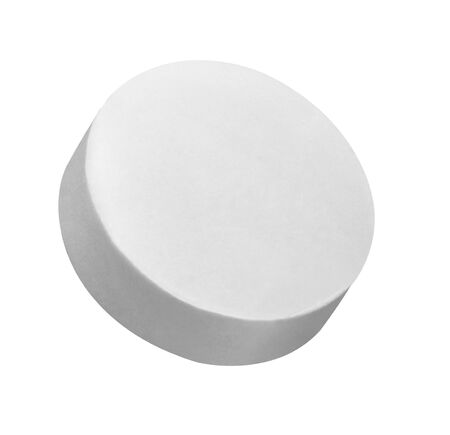 close up of a white pill on white background Stock fotó