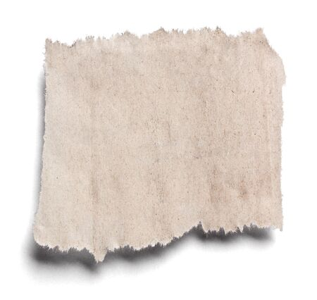 collection de divers morceaux de papier de nouvelles sur fond blanc. chacun est tiré séparément Banque d'images