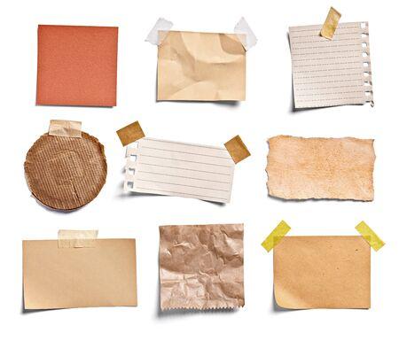 Nahaufnahme eines Briefpapiers auf weißem Hintergrund Standard-Bild