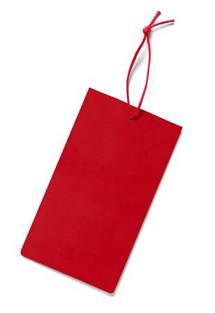 Gros plan d'une étiquette de prix note sur fond blanc