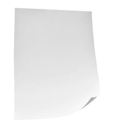 primo piano di fogli volanti su sfondo bianco Archivio Fotografico