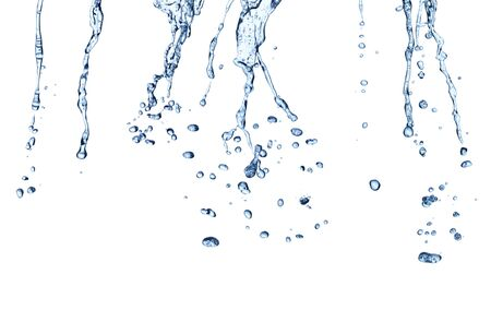 collection of various water drops on white background Foto de archivo - 138396076