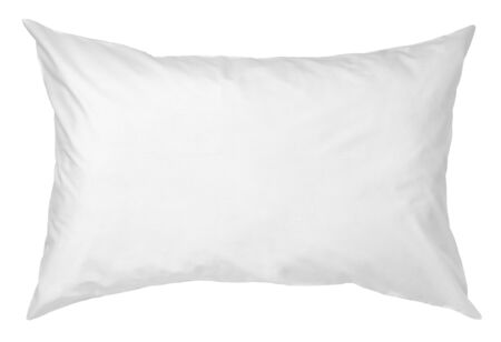 close up of a white pillow on white background Stockfoto