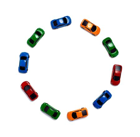 close up of toy cars traffic and accident Standard-Bild