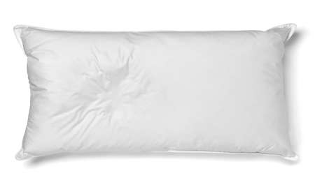 close up of a white pillow on white background Imagens
