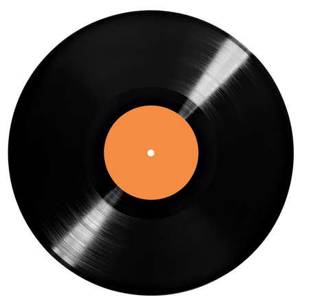 close up of a vintage vinyl on a white background Stock fotó