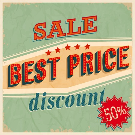 imperfections: Best price sale. Vector illustration.