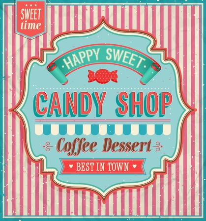 Candy shop. Vector illustration.