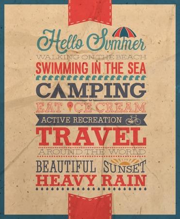 summer holiday: Summer poster.Vector illustration