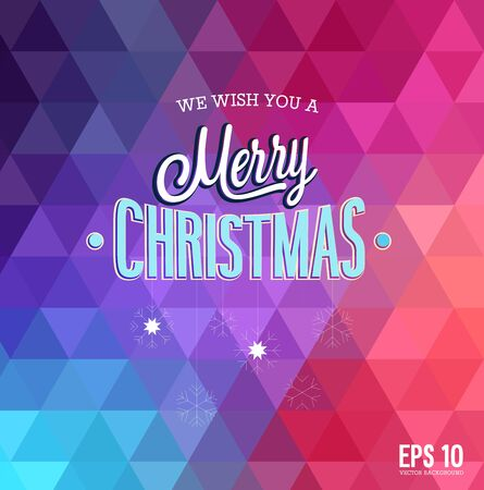 Merry Christmas.  Hipster style. Vector illustration. Vectores