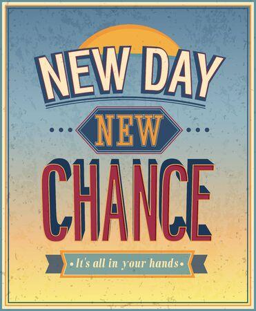 new day: New Day, nuova occasione - illustrazione vettoriale.