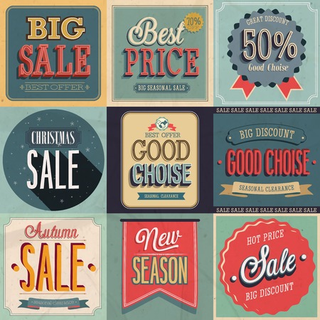 clearance sale: Sale Set. Vector Illustration