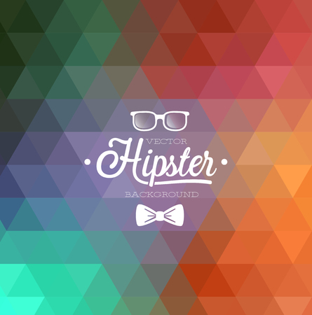 funky music: Hipster background. Vector illustration.