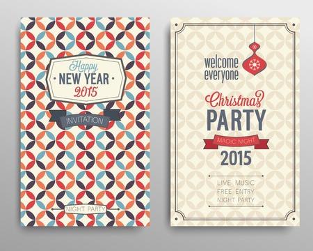 caligraphic: Merry Christmas flyer.