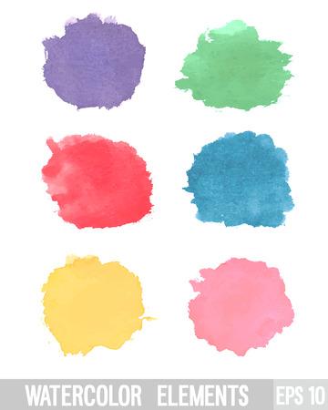 Watercolor design element. Vector illustration.