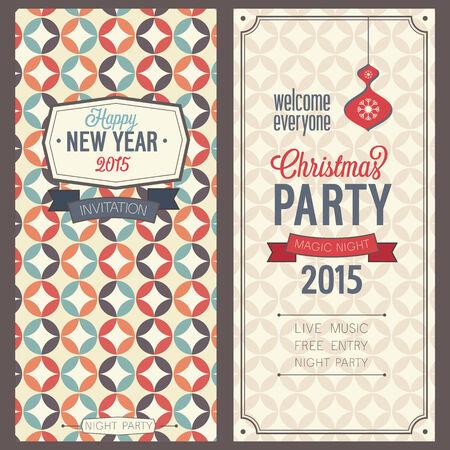 caligraphic: Christmas party invitation. Vector illustration. Illustration
