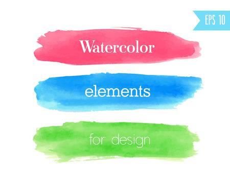 brush modern: Watercolor brush stroke. Vector illustration.