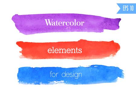 Watercolor brush stroke. Vector illustration.