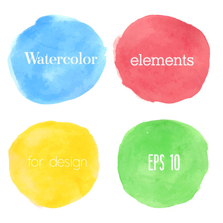 Watercolor design element. Vector illustration.