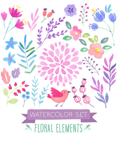 Watercolor seamless pattern. Vector illustration. Vectores
