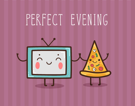 Vector hand draw illustration - perfect evening. Vectores