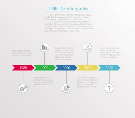 business template: Timeline infographic business template Illustration