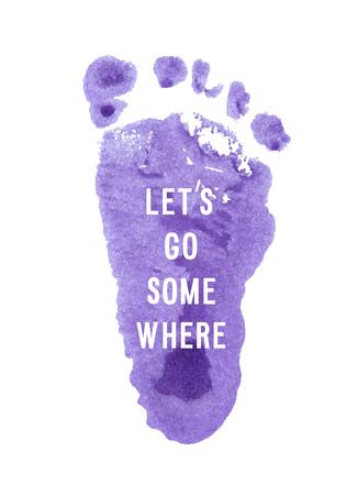 """Motivation Plakat """"lassen Sie uns gehen Sie woanders"""" Abstrakter Hintergrund Standard-Bild - 49808726"""