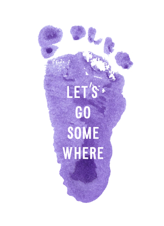 Motivation poster lets go somewhere Abstract background