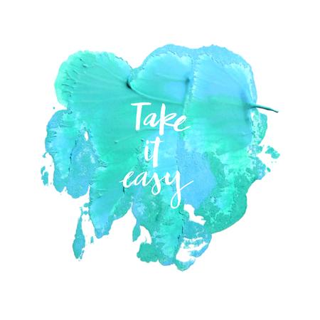 take it easy: Motivation poster Take it easy illustration.
