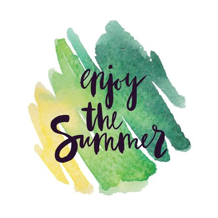 summer background with holiday elements. illustration.