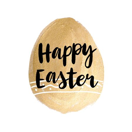 Happy easter cards illustration with font.