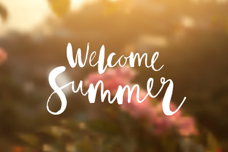 Welcome summer poster.
