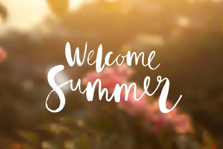 """de zomer: """"Welkom zomer"""" poster."""