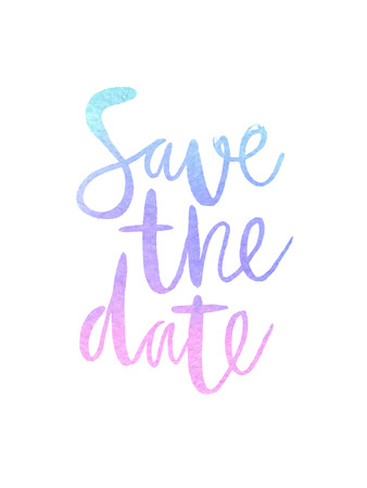 "Motivation Plakat ""Save the date"" Vektor-Illustration Standard-Bild - 63469963"