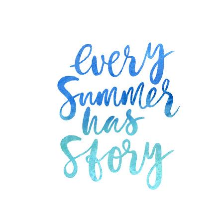 Motivation poster Every summer has story Vector illustration 向量圖像