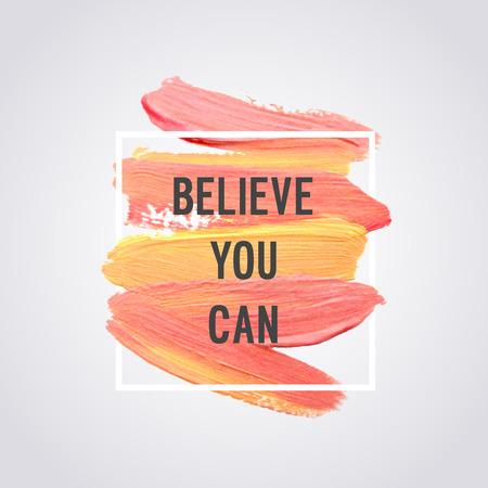 """Motivation Poster """"Glauben Sie können"""" Vektor-Illustration. Standard-Bild - 63469969"""