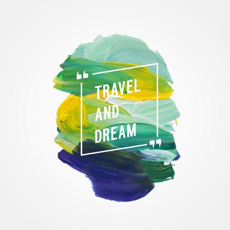 """Motivation Plakat """"Reise und Traum"""" Vektor-Illustration Standard-Bild - 63392297"""