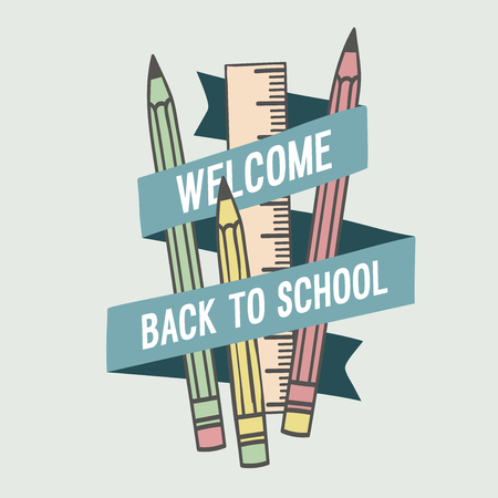 Welcome back to school. Vector illustration. 向量圖像