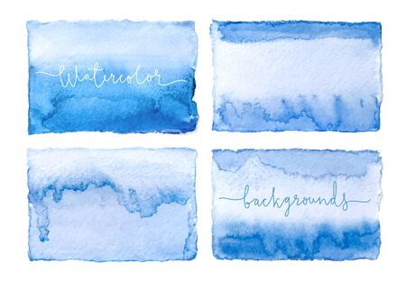 Watercolor cards. Vector background. Illustration