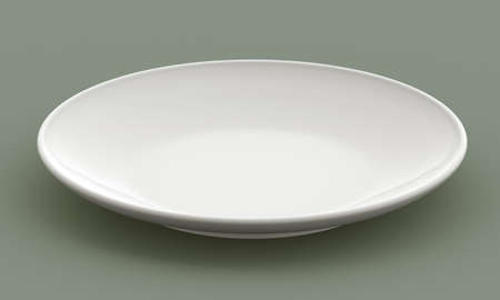 White Sphere Dish plate side view on background. Isolated 3d model