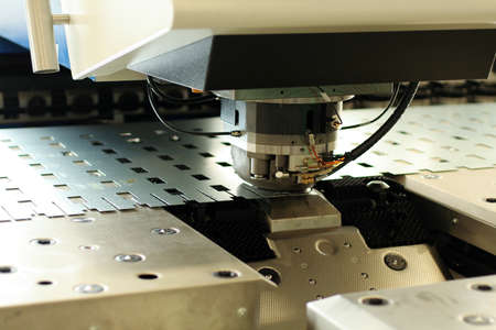 High precision Computer Numeric Control (CNC) sheet metal stamping and punching machinery.