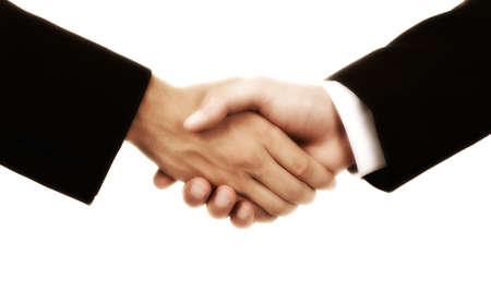 business handshake, isolated on white background