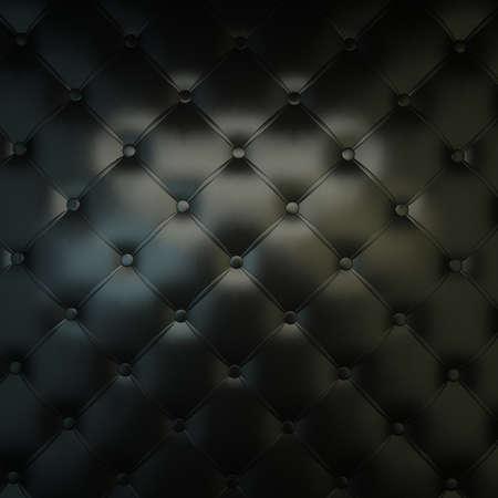 Sepia luxury buttoned black leather Foto de archivo