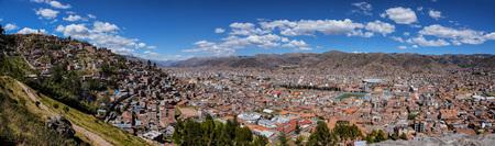 Cityscape of Cusco Peru. Panoramic view