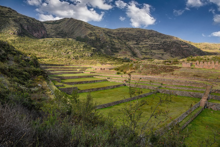Tipon Ruins in Cusco Peru, archeological site