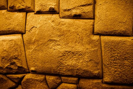Famous Twelve Angled Stone precisely cut and perfectly assembled by Incas in the wall in Cusco city in Peru. Tourist attraction.