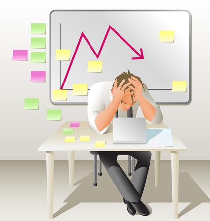 ersch�pft: Management-Krise  Illustration