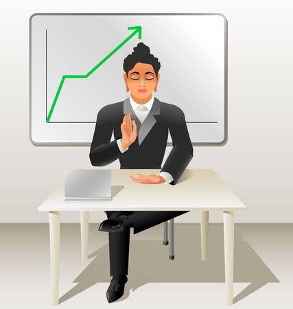 Buddha  super manager Illustration