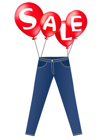 Jeans on sale Vector